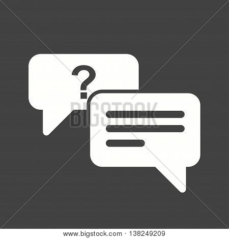 Question, mark, answer icon vector image. Can also be used for customer services. Suitable for use on web apps, mobile apps and print media.