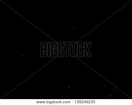 Deep sky stars in a starry night