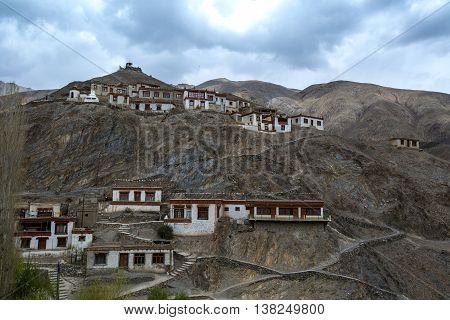 Lamayru Monastery, View Of Lamayuru Monastery In Leh-ladakh, India. Lamayuru Is A Tibetan Buddhist M
