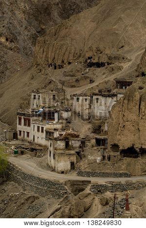 Lamayuru Village Against Mountain, Leh-ladakh, North Of India