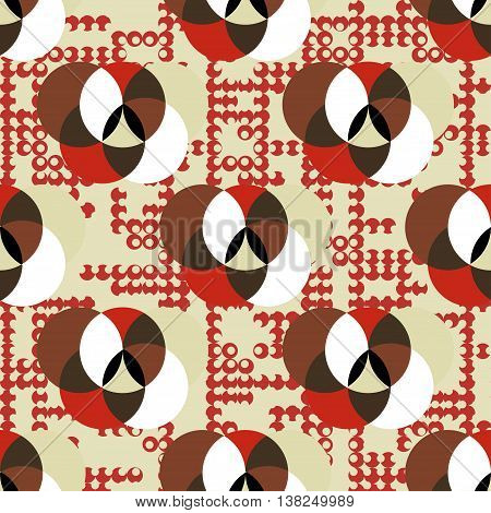 abstract geometric pattern in retro colors vector illustration abstract high quality