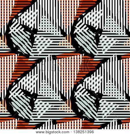 colored lines Graffiti pattern on a black background vector illustration