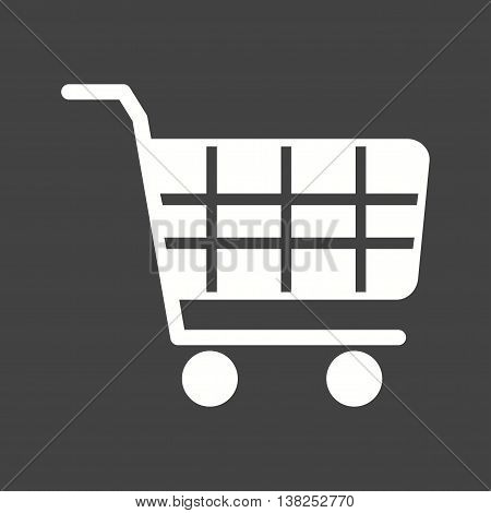 Shopping, cart, trolley icon vector image. Can also be used for shopping. Suitable for use on web apps, mobile apps and print media.