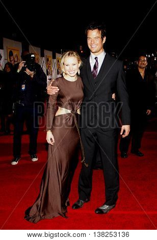 Kristen Bell and Josh Duhamel at the World premiere of 'When in Rome' held at the El Capitan Theater in Hollywood, USA on January 27, 2010.