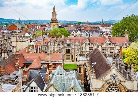 Cityscape of Oxford. Oxfordshire England UK Europe