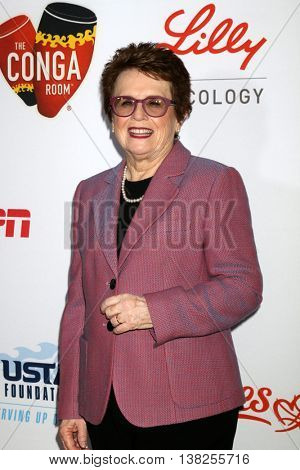 LOS ANGELES - JUL 12:  Billie Jean King at the 2nd Annual Sports Humanitarian Of The Year Awards at the Congo Room on July 12, 2016 in Los Angeles, CA