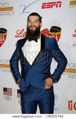 LOS ANGELES - JUL 12:  Brent Burns at the 2nd Annual Sports Humanitarian Of The Year Awards at the Congo Room on July 12, 2016 in Los Angeles, CA