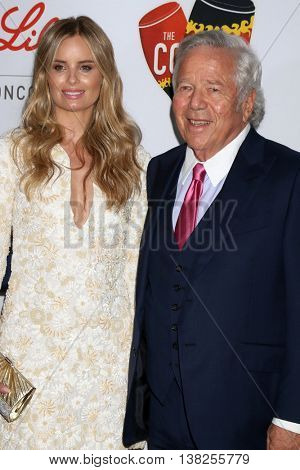 LOS ANGELES - JUL 12:  Ricki Noel Lander, Robert Kraft at the 2nd Annual Sports Humanitarian Of The Year Awards at the Congo Room on July 12, 2016 in Los Angeles, CA