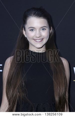 LOS ANGELES - JUL 11:  Chloe East at the  Undrafted Los Angeles Premiere  at the ArcLight Hollywood on July 11, 2016 in Los Angeles, CA