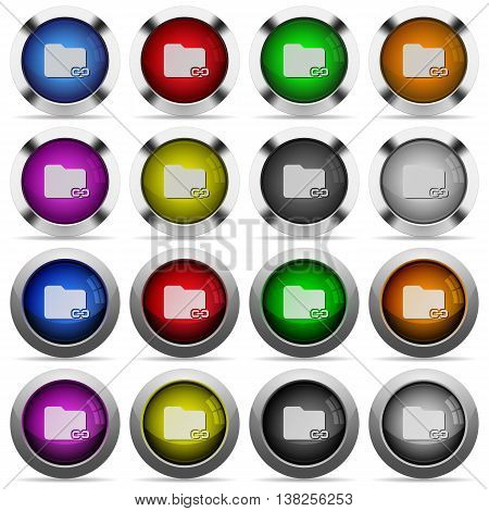Set of linked folder glossy web buttons. Arranged layer structure.