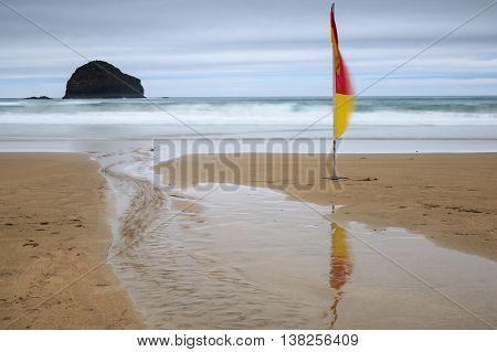 Long exposure image taken at trebarwith strand Cornwall.