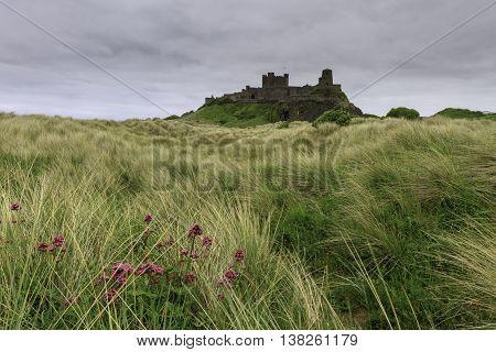 Bamburgh Castle on the Northumberland coast. UK.