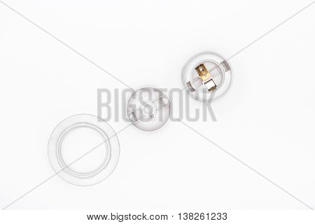 Lamp Socket On A White Background