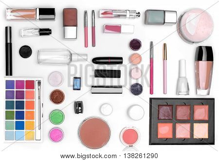 The Set Of Cosmetics. The View From The Top