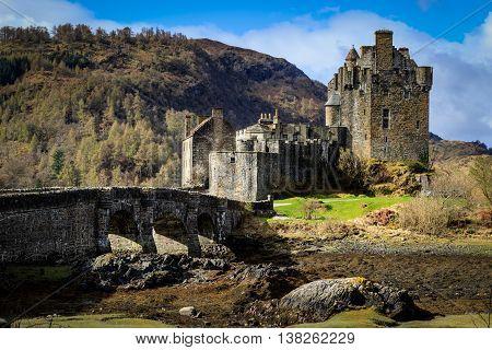 Eilean Donan Castle Dornie Scottish Highlands. UK.