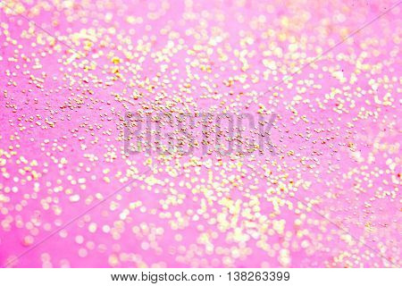 Abstract Glitter Festive background - abstract twinkled Christmas bokeh sparkle