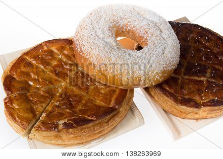 French Sweet Brioche Bread On Tray On The White Background