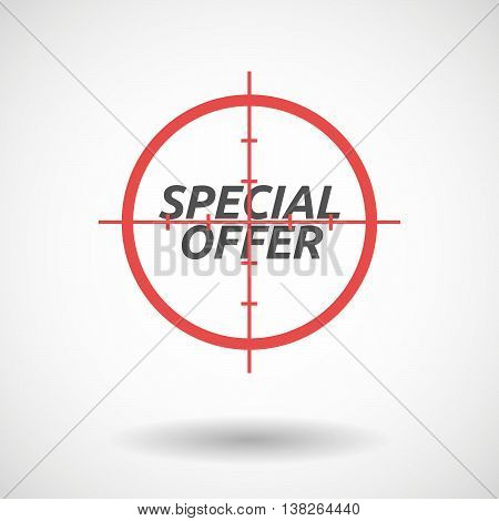 Isolated Red Crosshair Icon With    The Text Special Offer
