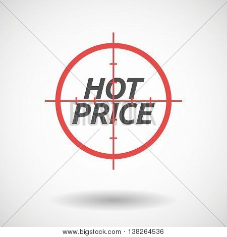 Isolated Red Crosshair Icon With    The Text Hot Price