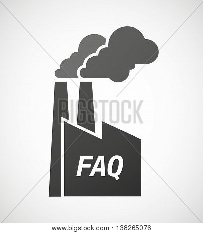 Isolated Industrial Factory Icon With    The Text Faq