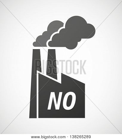 Isolated Industrial Factory Icon With    The Text No