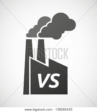 Isolated Industrial Factory Icon With    The Text Vs