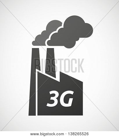 Isolated Industrial Factory Icon With    The Text 3G