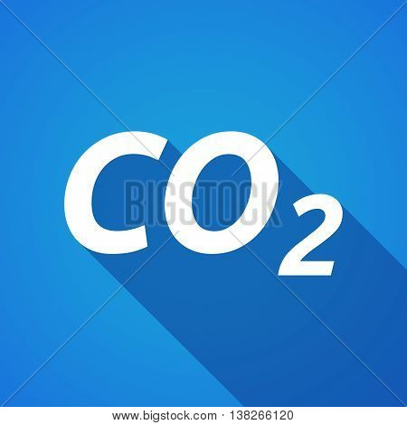 Long Shadow Illustration Of    The Text Co2