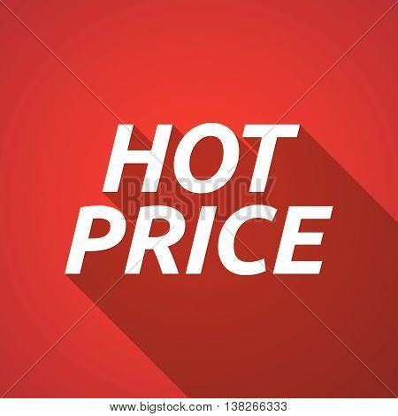 Long Shadow Illustration Of    The Text Hot Price
