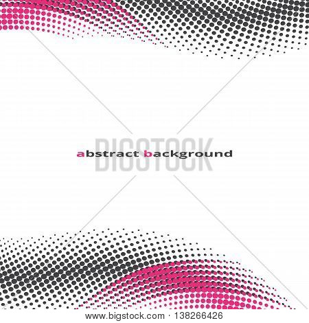 abstract background halfton effect pink and black dots