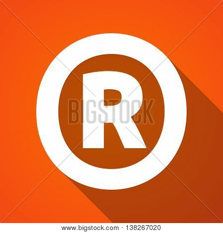 Long Shadow Illustration Of    The Registered Trademark Symbol