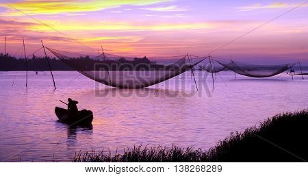 Tam Giang district, province Hue, Vietnam, at dawn