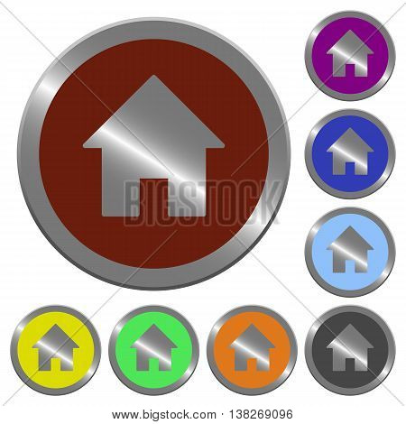 Set of color glossy coin-like home buttons.