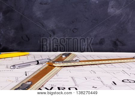 Drawing Equipment On Plans For Making A Model Aircraft