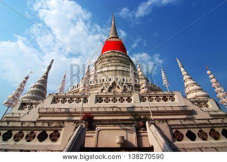 The stupa at Phra Samut Chedi in Samut Prakan Thailand