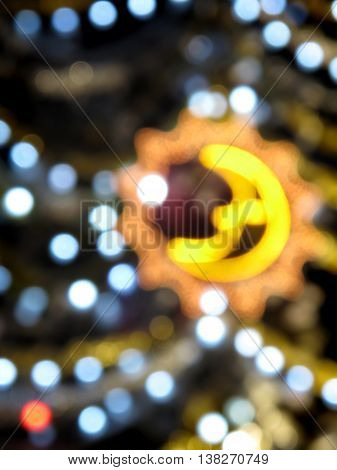 Abstract background of christmas lights and decorations