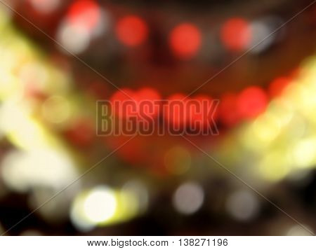 Abstract background of bright blurry christmas lights