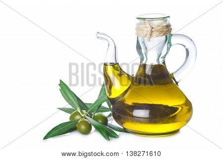 Extra Virgin Olive Oil Bottle Isolated On White