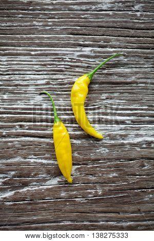 Yellow fresh picked lemon drop chili