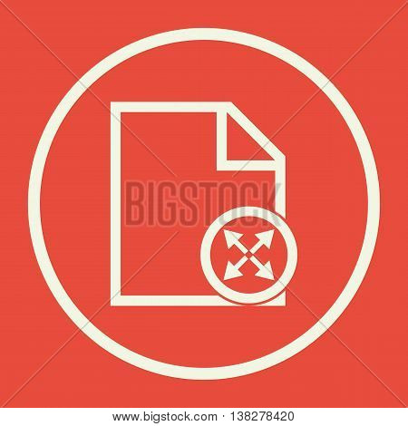 File Expand Icon In Vector Format. Premium Quality File Expand Symbol. Web Graphic File Expand Sign