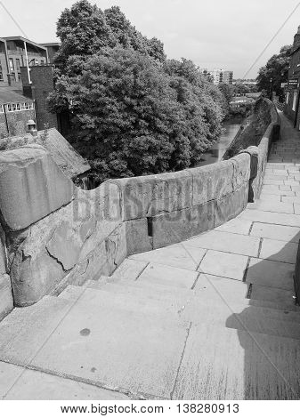Roman City Walls In Chester