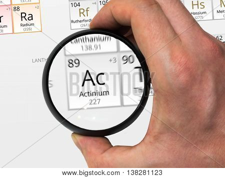 Actinium Symbol - Ac. Element Of The Periodic Table Zoomed With