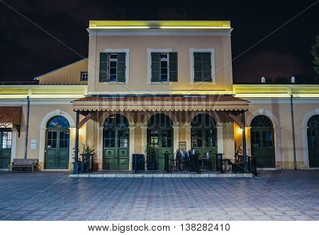 Tel Aviv Israel - October 19 2015. Renovated building of former Jaffa Railway Station completed in 1891 and closed in 1948