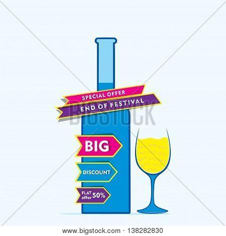 big end of season special offer banner design vector