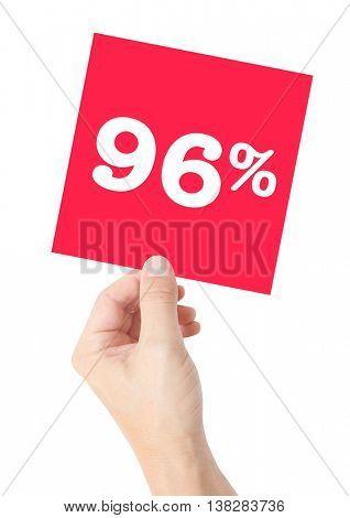 96 percent on white