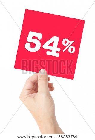 54 percent on white