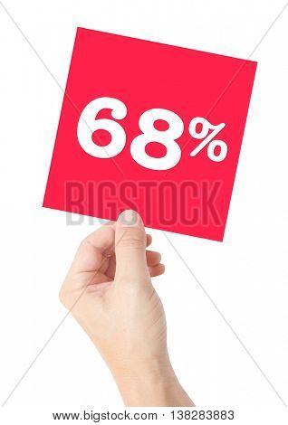 68 percent on white