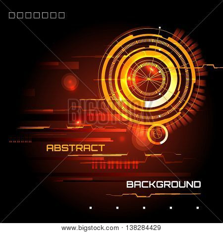 illustration of Futuristic interface, HUD,  sci-fi  background, vector