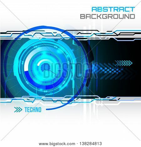 illustration of Futuristic interface, technology vector, sci-fi  background