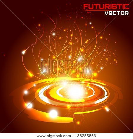 illustration of Futuristic interface background HUD,  vector.